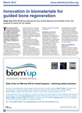 Innovation in biomaterials for guided bone regeneration